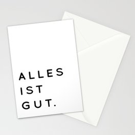 Alles ist Gut | Typography Minimalist Version Stationery Cards