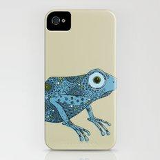 Little blue frog Slim Case iPhone (4, 4s)