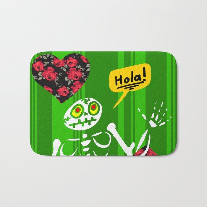 Hello Skeleton Bath Mat