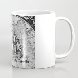 Ship and Map .  Home Decor for Him and Her Coffee Mug
