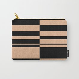 Abstract striped pattern. black and beige. Carry-All Pouch