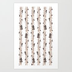 Bears. Art Print