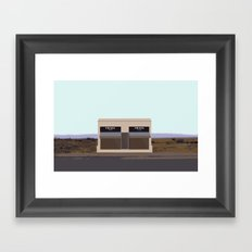 Marfa Installation: A digital illustration Framed Art Print