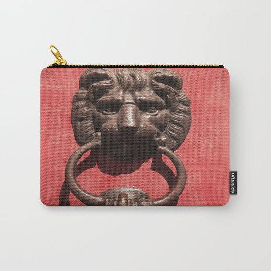 Red Door with Lion head  Carry-All Pouch