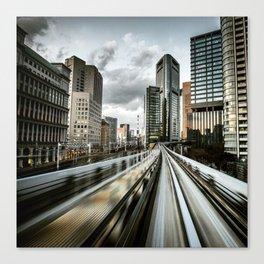 tokyo metro monorail Canvas Print