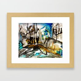 Hinze Dam Framed Art Print
