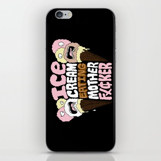 Ice Cream Eater iPhone & iPod Skin