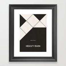 Quantic Dream's Heavy Rain Framed Art Print
