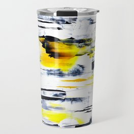 Bumble Bee Abstraction Travel Mug