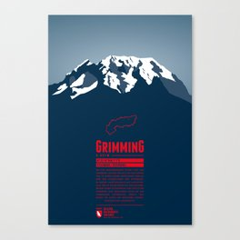 Grimming Canvas Print
