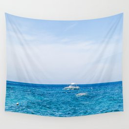 Dive Boat in the Bohol Sea Wall Tapestry