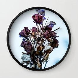 Dry roses Wall Clock