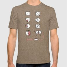 Cootie Catcher (How - To) Mens Fitted Tee Tri-Coffee LARGE