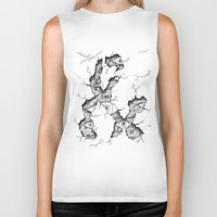 ampersand Biker Tanks featuring ampersand by Squidfeathers