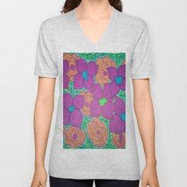 Bold Summer Flowers Unisex V-Neck