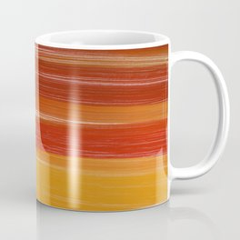Abstract brown orange yellow sunset brushstrokes Coffee Mug