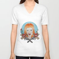 hayley williams V-neck T-shirts featuring Hayley Williams Wanted! by Toma.