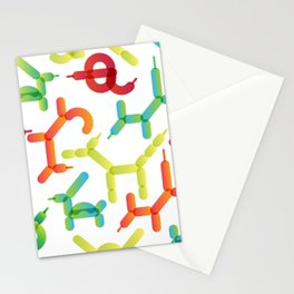 Balloon animals pattern #2 Stationery Cards