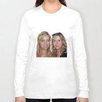 sisters Long Sleeve T-shirts featuring Sisters by Saoirse Mc Dermott