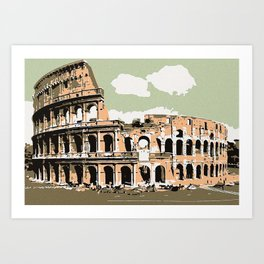 Il Colosseo Roma (The colosseum or coliseum Rome) Art Print