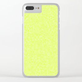 Melange - White and Fluorescent Yellow Clear iPhone Case