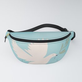 Dove of Peace with Olive Branch Fanny Pack
