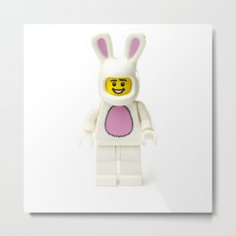 Minifig in a bunny rabbit suit Metal Print