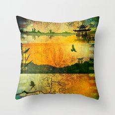 Secluded Reflection Throw Pillow