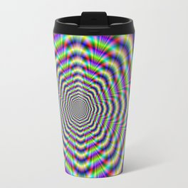 Psychedelic Octagon Pulse Travel Mug
