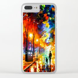 Tardis Art And The Light Street Clear iPhone Case