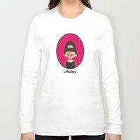 hepburn Long Sleeve T-shirts featuring Audrey Hepburn by Juliana Motzko