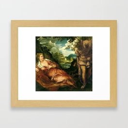 """Tintoretto (Jacopo Robusti) """"The Meeting of Tamar and Juda"""" Framed Art Print"""