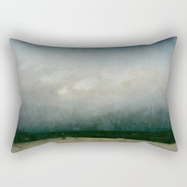 Caspar David Friedrich - The Monk by the Sea Rectangular Pillow
