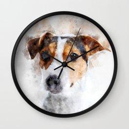 Jack Russell Watercolor Art Wall Clock