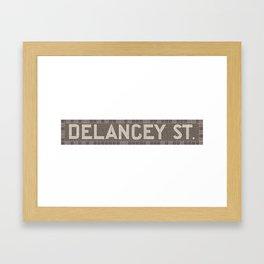 Delancey Street Framed Art Print