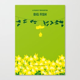 No993 My Big Fish minimal movie poster Canvas Print