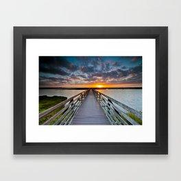 Bolsa Chica Wetlands Sunrise  6/18/14 Framed Art Print