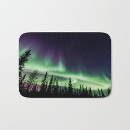Aurora during geomagnetic storm in Yellowknife, Canada Bath Mat