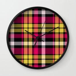 Tartan Pattern Wall Clock