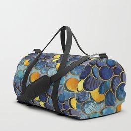 Abstract deep blue Duffle Bag