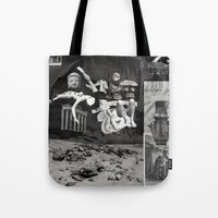 tape Tote Bags featuring Tape by Young Weirdos Guild