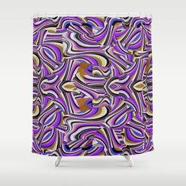 Retro Renewal - Purple Waves Shower Curtain