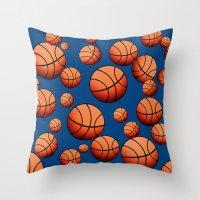 basketball Throw Pillows featuring Basketball by joanfriends