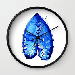 Bright Blue Jungle Leaf - Tropical Safari Theme Wall Clock