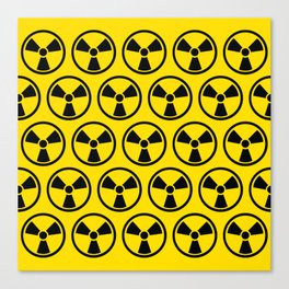 Radioactive Pattern Canvas Print