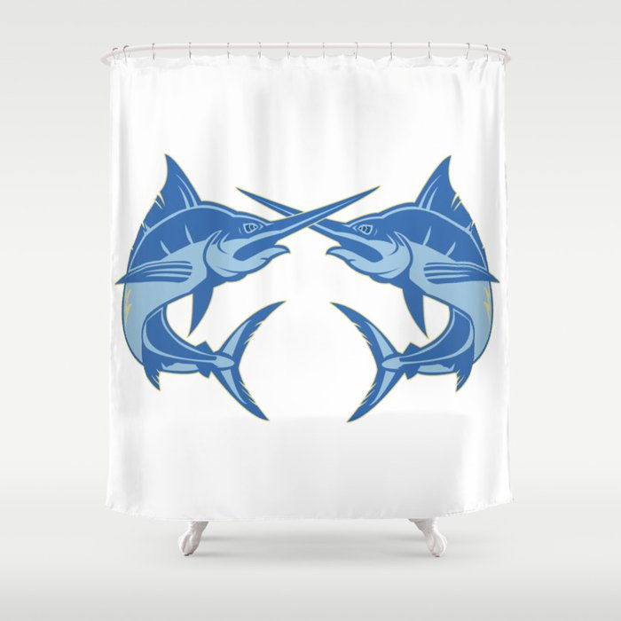 Sailfish is one of the most hardest fishes to catch Shower Curtain