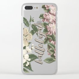 hallelujah vintage floral Clear iPhone Case