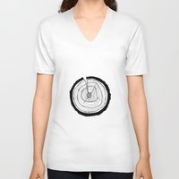 tree rings V-neck T-shirts featuring Tree Rings by Kristy Ann