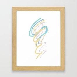 Doodle Writing Thinking Framed Art Print
