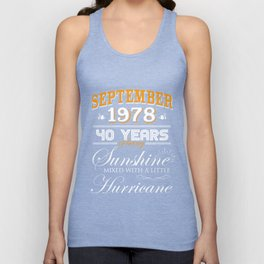 September 1978 Gifts 40 Years Anniversary Celebration Unisex Tank Top